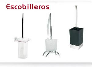 accesorios baños. escobilleros